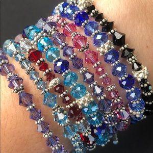 Jewelry - Sterling silver Swarovski crystal bracelet
